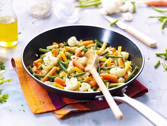 Poêlée de légumes en promotion : la 2ème à -60%
