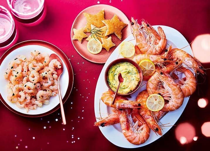 Crevettes nordiques décortiquées cuites