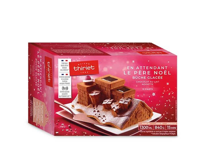 En attendant le père Noël - bûche glacée chocolat