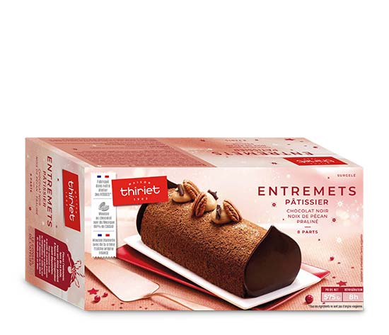 Entremets pâtissier chocolat - pécan - praliné