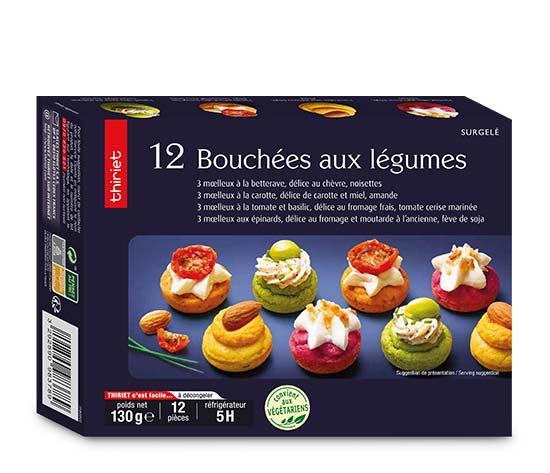 12 Bouchées aux légumes