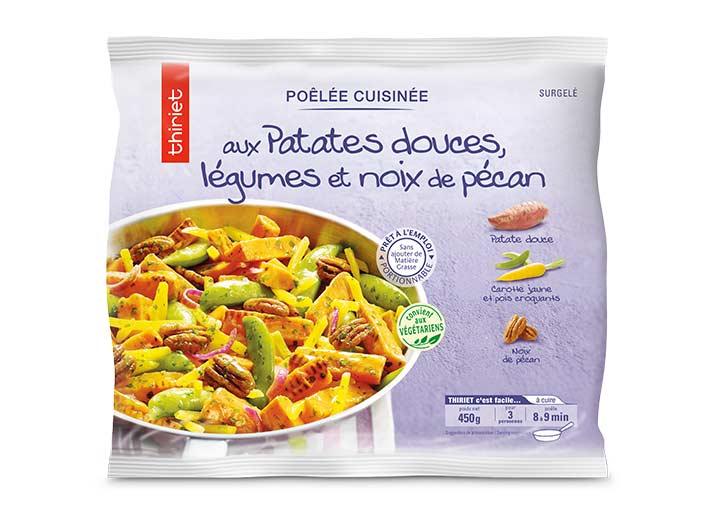 Poêlée aux patates douces, légumes, noix de pécan