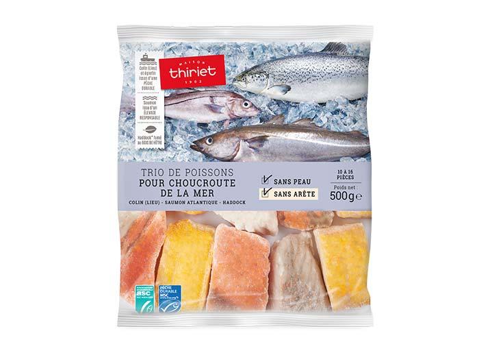 Trio de poissons pour choucroute de la mer