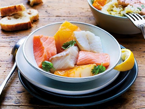 Poissons Fruits de mer - Trio de poissons pour choucroute de la mer