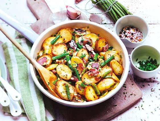 Poêlées cuisinées - Pommes de terre à la périgourdine