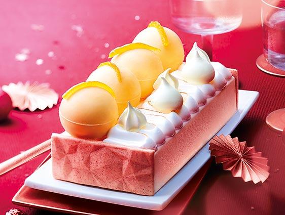 Desserts glacés - Bûche glacée meringuée pamplemousse mandarine