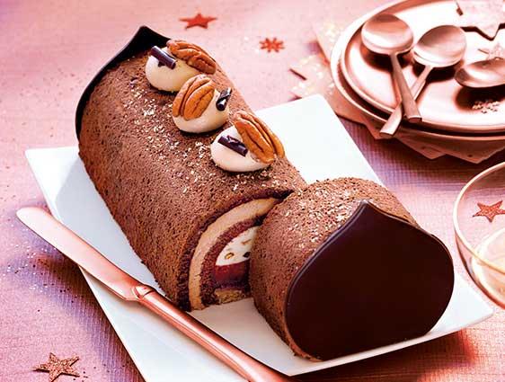 Desserts - Entremets pâtissier chocolat-pécan-praliné