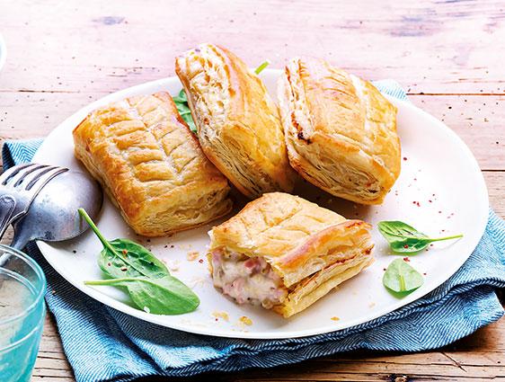 Entrées - Snacking - tartes - Feuilletés jambon emmental et champignons