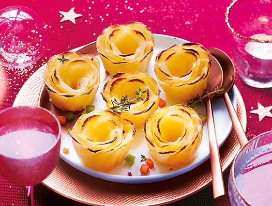 Légumes cuisinés - Roses de pommes de terre
