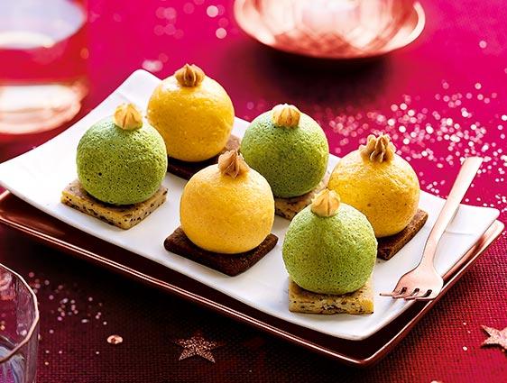 Légumes cuisinés - Mini boules de Noël aux légumes