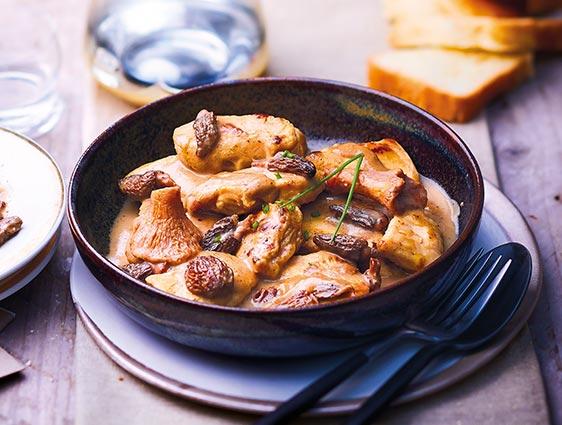 Plats à partager - Chapon sauce au foie gras de canard