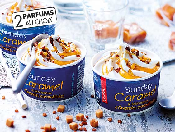 Glaces Thiriet en promotion - Quatre Sunday caramel à -25%