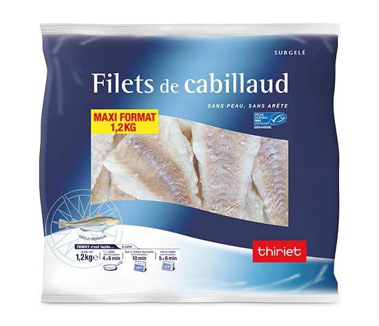 Filets de cabillaud - Maxi format - 1.2 kg