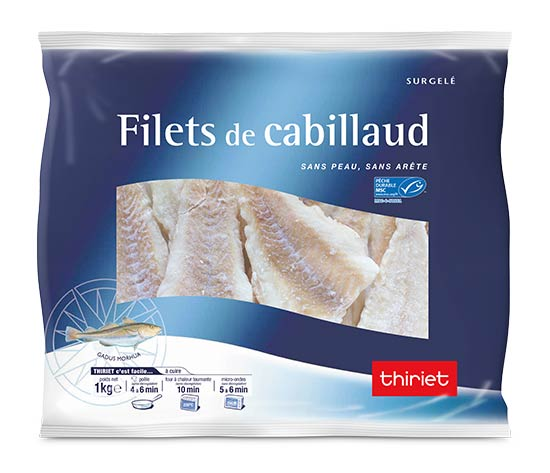 2 kg de filets de cabillaud sans arête