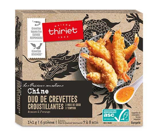 Duo de crevettes croustillantes