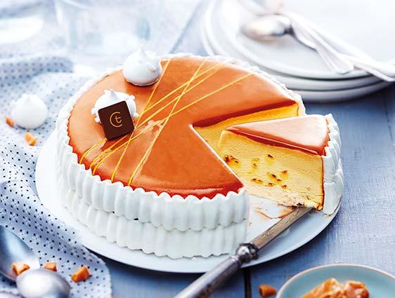 Desserts glacés à partager - Vacherin saveur crème brûlée caramel