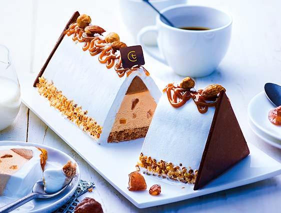 Desserts glacés à partager - Bûche glacée façon Mont Blanc marron chantilly