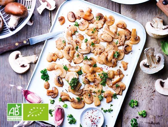 Pommes de terre Légumes Fruits - Champignons de Paris émincés biologiques