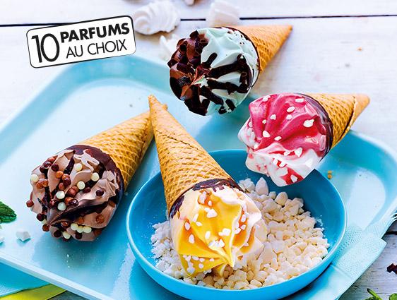 Desserts glacés - Cornets Classico pistache chocolat