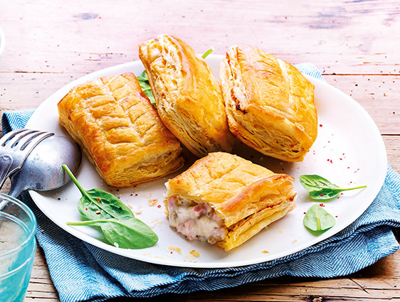 Entrées Snacking Tartes - Feuilletés jambon emmental champignons
