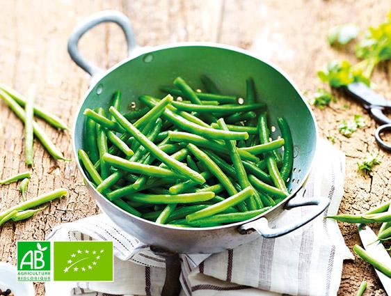 Légumes bruts surgelés Thiriet en promotion - Haricots verts très fins biologiques à -15%