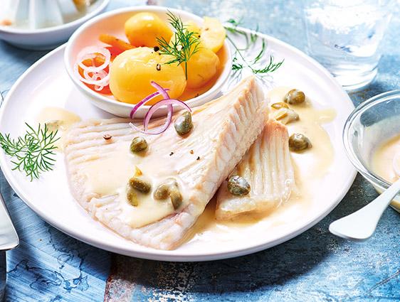 Poissons cuisinés surgelés Thiriet en promotion - Aile de raie sauce aux câpres à -15%