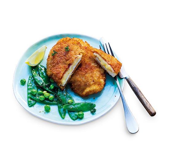 2 Escalopes de filet poulet, bacon-St Nectaire AOP