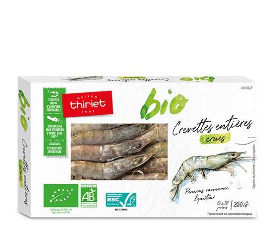 Crevettes entières crues Biologiques : la 2ème à -60% !