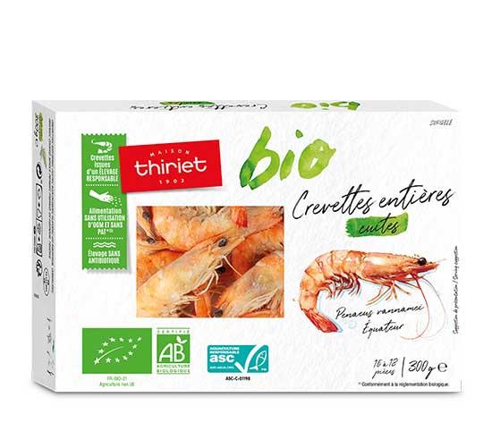 Crevettes entières biologiques : la 2ème à -50%
