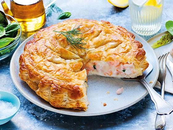 Feuilletés et tartes - Tourte saumon petits légumes