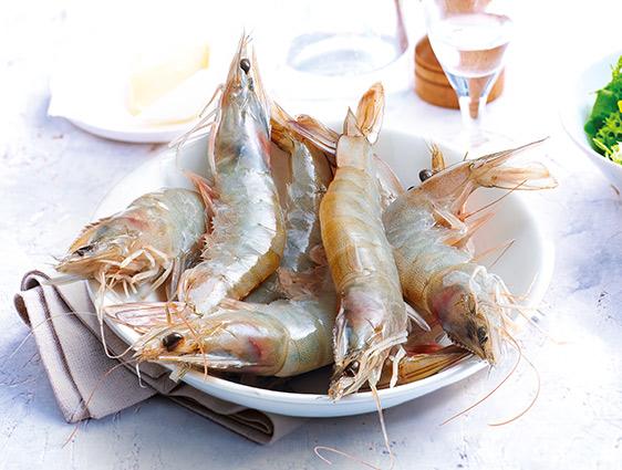 Fruits de mer - Crevettes entières crues