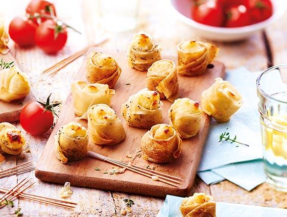Bouchées apéritives en promotion - Mini croustillants aux fromages