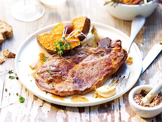 Viande en promotion - Côtes de porc échine