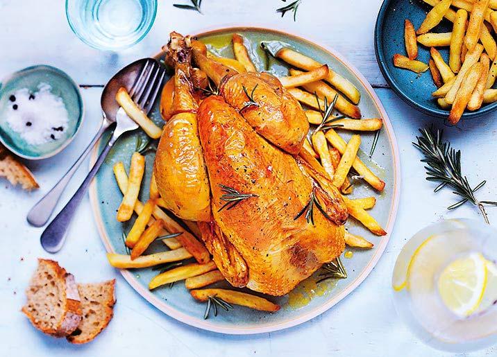 1 Poulet jaune fermier des Landes = Frites OFFERTES