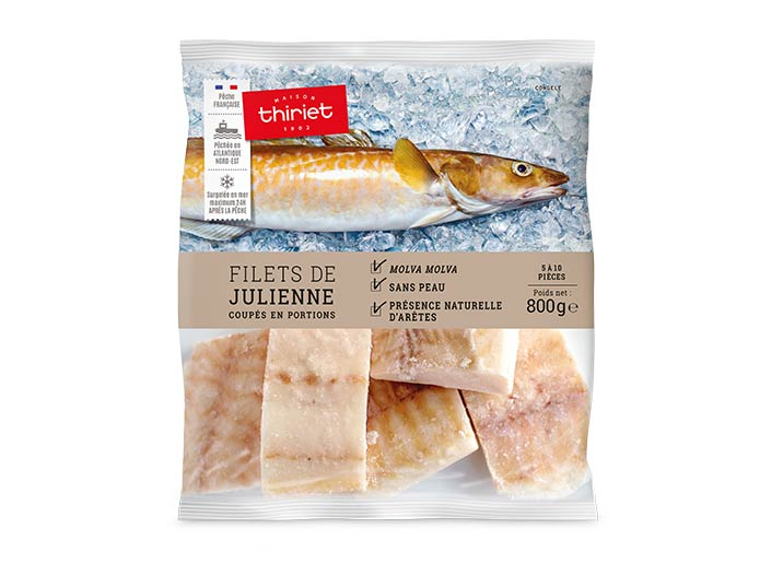 Filets de julienne coupés en portions