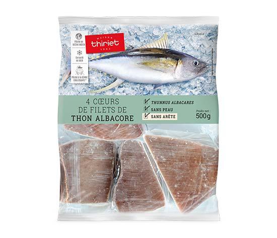 4 Cœurs de filets de thon Albacore