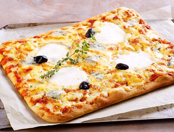 Entrées Snacking Tartes - Pizza 4 fromages 3 recettes au choix en promotion