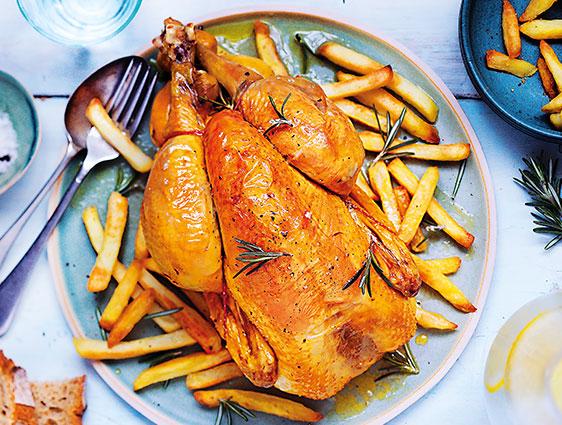 Volailles - Poulet jaune fermier des Landes frites offertes