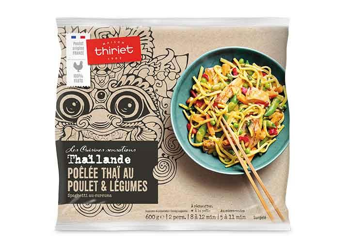 Poêlée thaï poulet, légumes