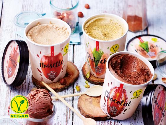 Desserts glacés - Pot Glace Vegan Noisette