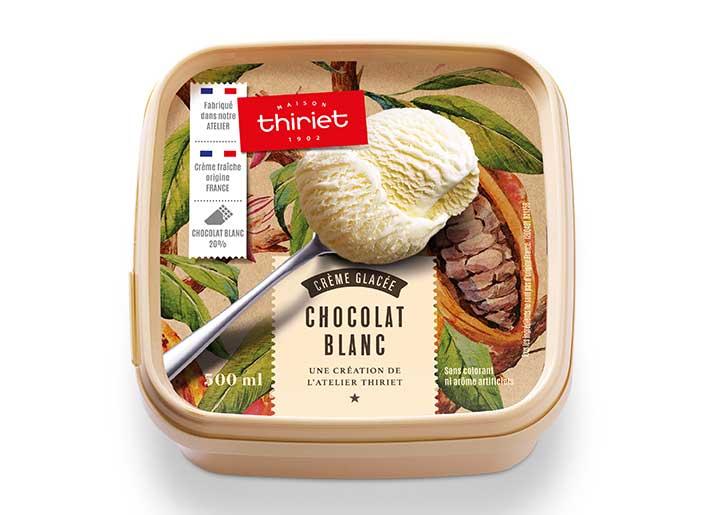 Crème glacée Chocolat blanc