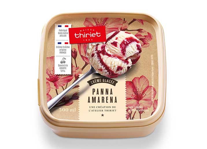 Crème glacée Panna amarena