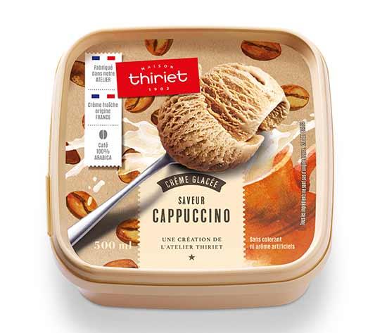 Crème glacée saveur Cappuccino