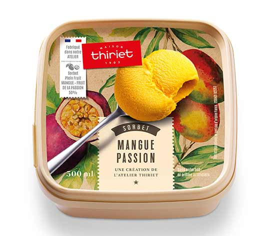 Sorbet Plein Fruit Mangue - Passion