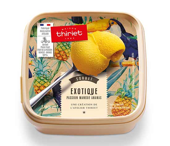 Sorbet Plein Fruit Exotique - Passion Mangue Ananas
