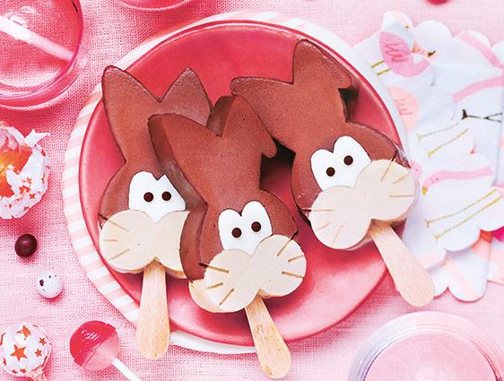 Bâtonnets - Petits Lapins chocolat praliné vanille