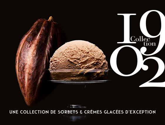 Bac de glace Crème glacée Chocolat au Lait du Ghana