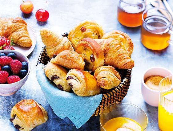 Pains aux raisins en promotion - 30 mini viennoiseries parmi 3 recettes au choix en promotion