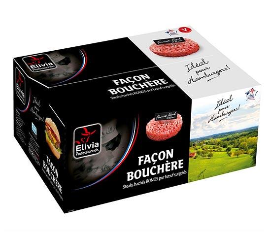 24 steaks hachés façon bouchère pur boeuf 15% MG