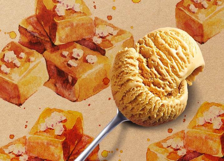Crème glacée Caramel au sel de Guérande